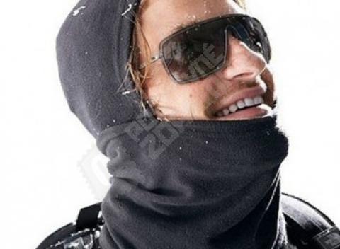 Multifunkčná kukla v čiernej farbe ochráni pred nepríjemným mrazom. Doprava  zdarma. 455391d390c