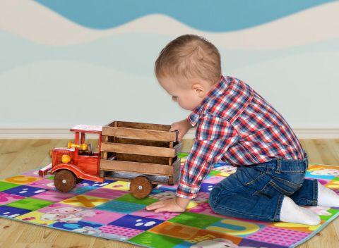 89740add849d Veselá podložka na hranie pre najmenších - pre pohodlnú hru v detskej izbe