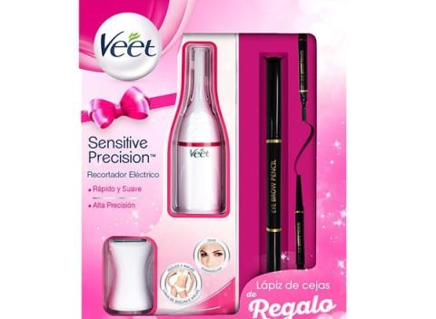 Elektrický zastrihávač chĺpkov Veet Sensitive Precision so 7 doplnkami a  ceruzkou na obočie! 34450859f89