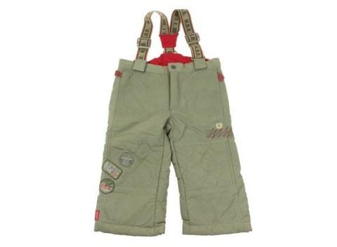 Pohodlné detské zimné lyžiarske nohavice v khaki farbe 7ca451da632