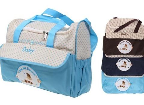 f667070ac015 Praktická prebaľovacia taška s medvedíkom na všetky potreby pre vaše  bábätko.