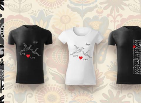 80aaef45a Dámske a pánske tričká so slovenským vzorom - čičmanské vzory či ľudové  motívy.