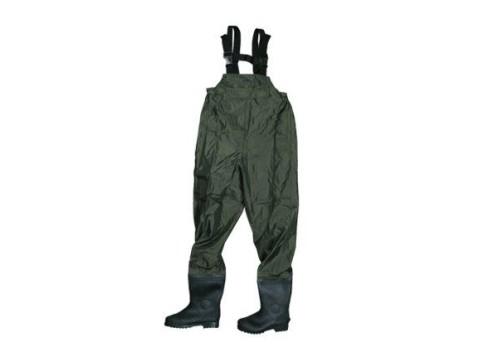 8226508ac280 Rybárske brodiace nohavice v tmavo zelenom prevedení