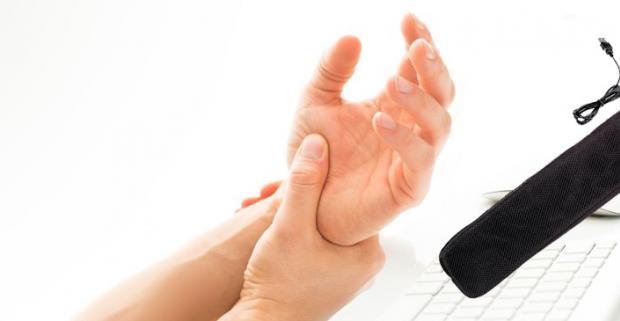 USB Vyhrievacia podložka ku klávesnici. Táto podložka je vyrobená za účelom predísť bolestiam šliach a kĺbov na zápästí pri dlhodobej práci.