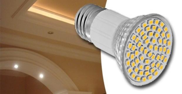 Ekologické osvetlenie. Úsporná 5 W- LED žiarovka so závitom E27 s dlhou životnosťou a nízkou spotrebou, úspora až 80%.