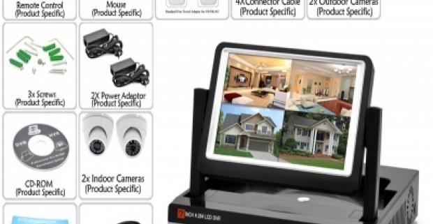 Online HD bezpečnostný systém so 4 kamerami, so zabudovaným displejom a hdmi portom. V prípade akéhokoľvek pohybu kamera sa aktivuje.