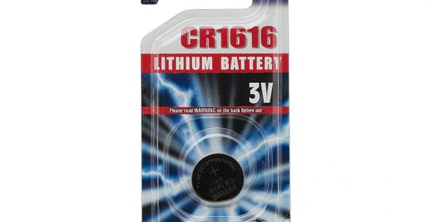 Gombíková batéria CR 1616 Li 3 V. Bezpečné a čisté použitie, pretože neobsahuje ortuť a kadmium, tým chráni životné prostredie