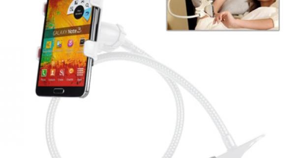 Využite váš telefón či tablet, čo najviac, vďaka držiaku s flexibilným ramenom, ktorý umožňuje vždy ten správny uhoľ pohľadu.