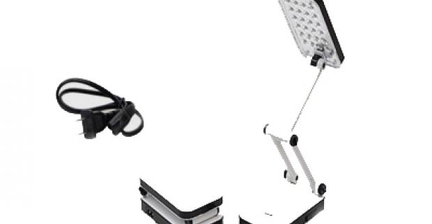 Polohovateľná stolná LED lampa. Kompaktná ale zároveň veľmi výkonná stolná lampa s 24 LED čipmi, ktorá spoľahlivo osvetlí váš pracovný stôl.