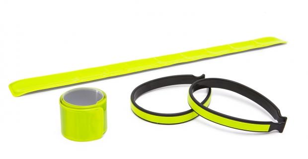 Sada reflexných pásikov na ruku, nohu či nohavice. Skvelá pomôcka, ktorá zvýši vašu viditeľnosť a bezpečnosť v cestnej premávke.