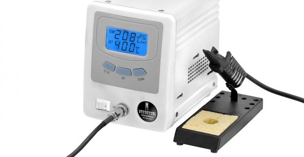 Digitálna spájkovacia stanica s digitálny displejom, so senzorom pohybu a s možnosťou nastavenia fixnej teploty.