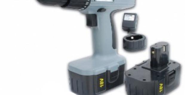 Profesionálna akumulátorová vŕtačka a 2 batérie. Ľahké, jednoduché a rýchle používanie, praktické do každej domácnosti či dielne.