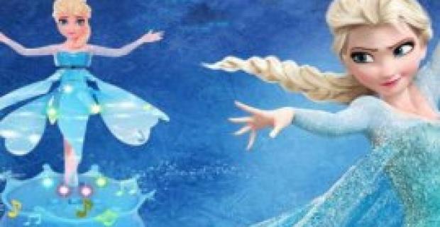Rozprávková lietajúca Elza z Ľadového kráľovstva. Objavte kúzlo nádhernej Elzy, ktorá pláva a tancuje vo vzduchu.