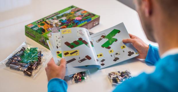 Minecraft My World - stavebnica kompatibilná s Legom. Jedinečná hračka, ktorá rozvíja kreativitu, logiku, jemnú motoriku a predstavivosť.