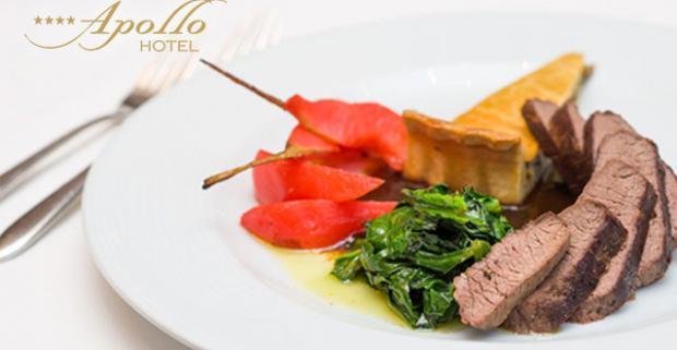 Vychutnajte si lahodné sviatočné menu v Apollo Hoteli****. Gastronomický zážitok s trojchodovým menu a výbornou atmosférou.