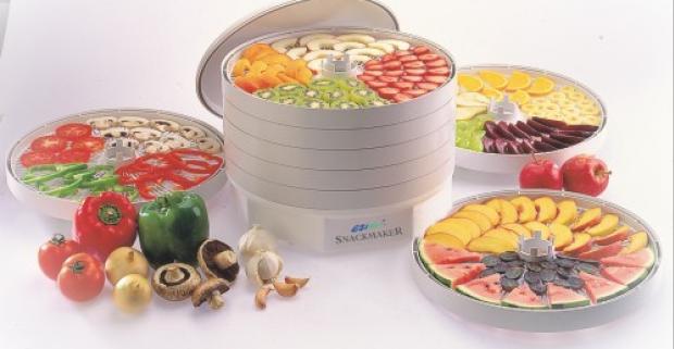 Automatická teplovzdušná sušička ovocia, zeleniny, húb a byliniek. Ezidri FD 500 má štandardnú výbavu 5 sušiacich plátov.