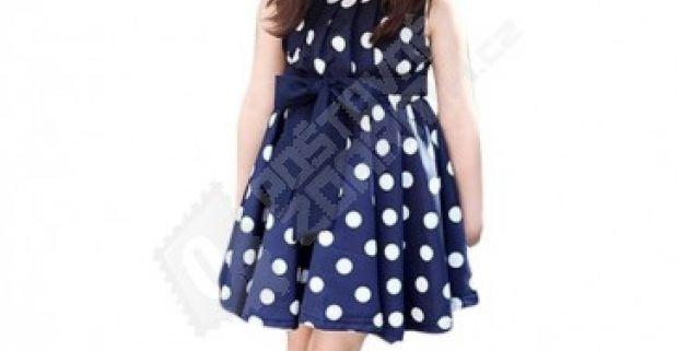 Dievčenské letné šaty s bodkami f171cd5567