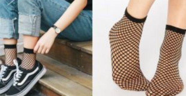 fe7816650 Dámske sieťované ponožky 5 párov - trendy módny doplnok k sukni i kraťasom.