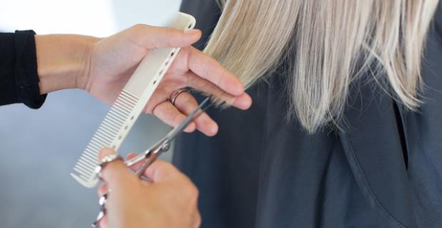 Strih vlasov + ošetrenie vlasov s extraktom z oleja z konopných semienok. e69830def96