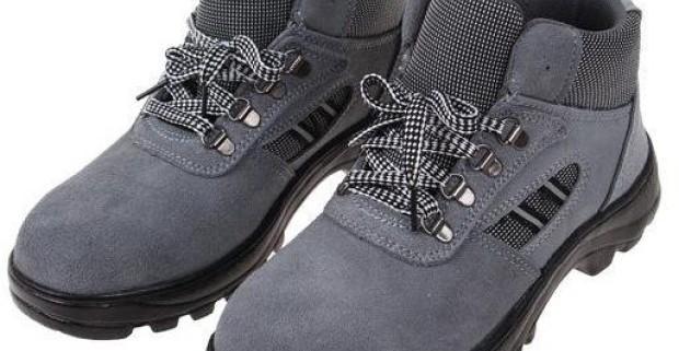 Členkové pracovné kožené topánky s vystuženou špičkou v…  deff6c4bc65