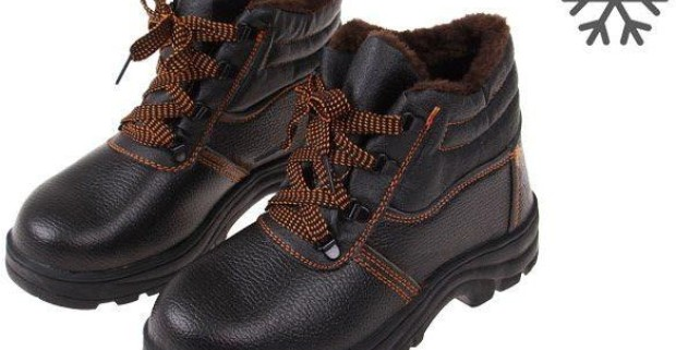 e2607b0d11 Členkové zimné pracovné kožené topánky s vystuženou špičkou ...