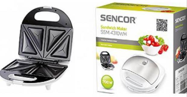 Sendvičovač Sencor Nepriľnavá povrchová úprava pečúcich plôch