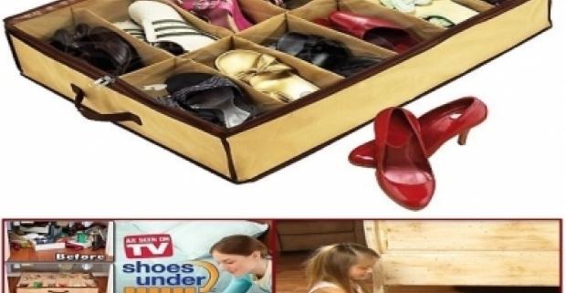 Úložný box na topánky Praktická pomôcka na sezónne uloženie obuvy