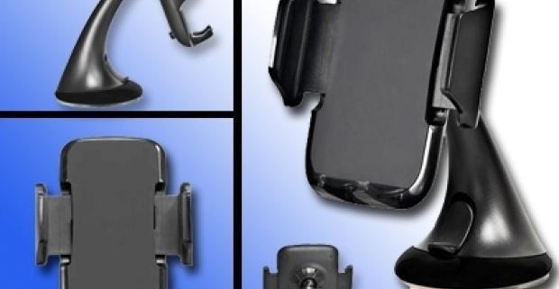 Univerzálny držiak na mobilný telefón do všetkých automobilov. Vďaka kĺbu je držiak nastaviteľný horizontálne aj vertikálne.