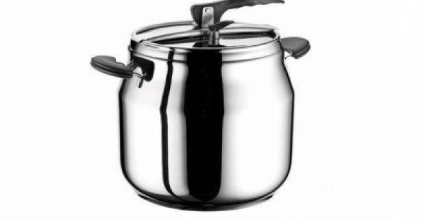 Nerezový 9 l tlakový hrniec je skvelý pomocník do kuchyne. Vhodný pre všetky tepelné zdroje, vrátane indukcie.