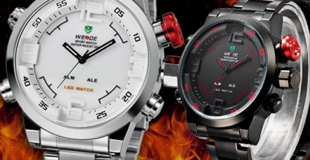 59f5cdaab Luxusné pánske hodinky WEIDE RALLY collection s analógovým displejom