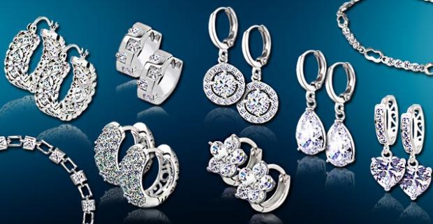 Krásne náušnice a náramky Nežné šperky s vysokým…  6ffc06d5825