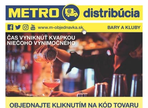 METRO - Gastronómia distribúcia bary a kluby