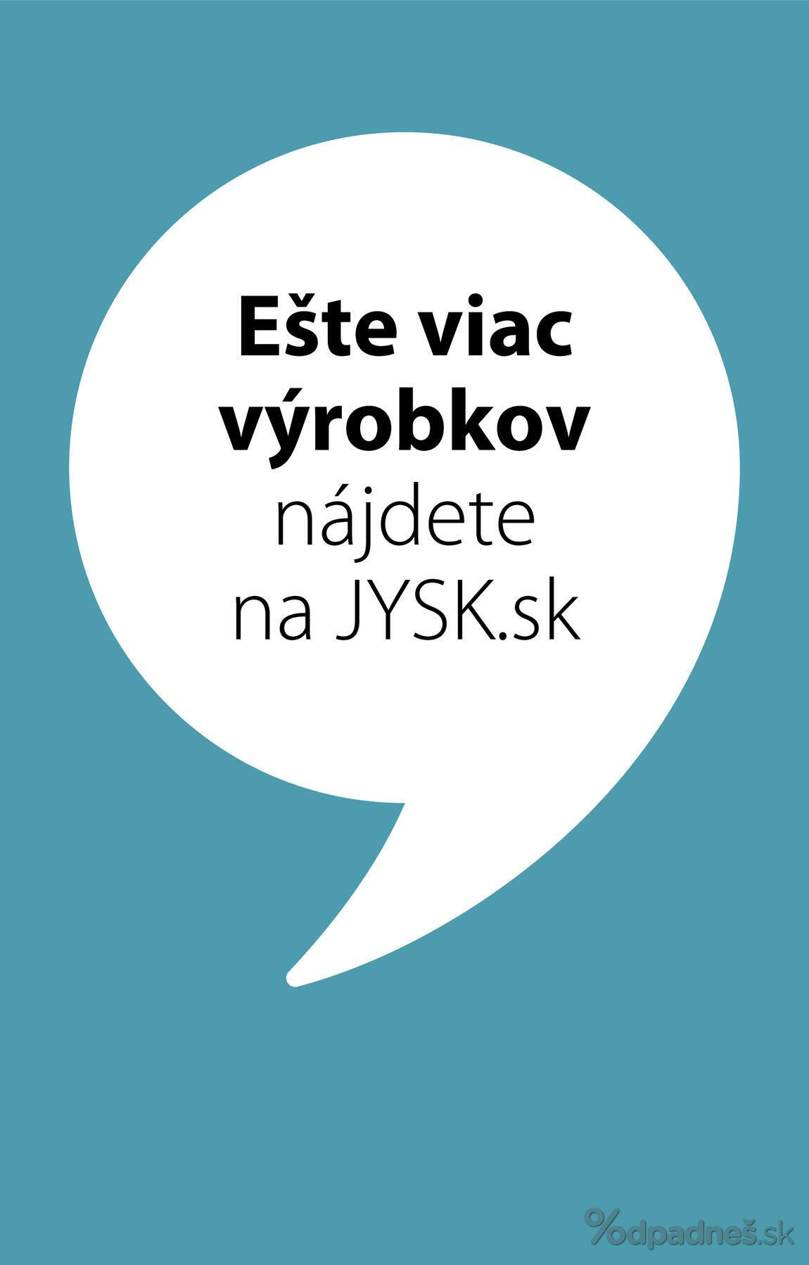 1. stránka Jysk letáku