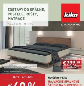 Kika - Spálne, postele, matrace