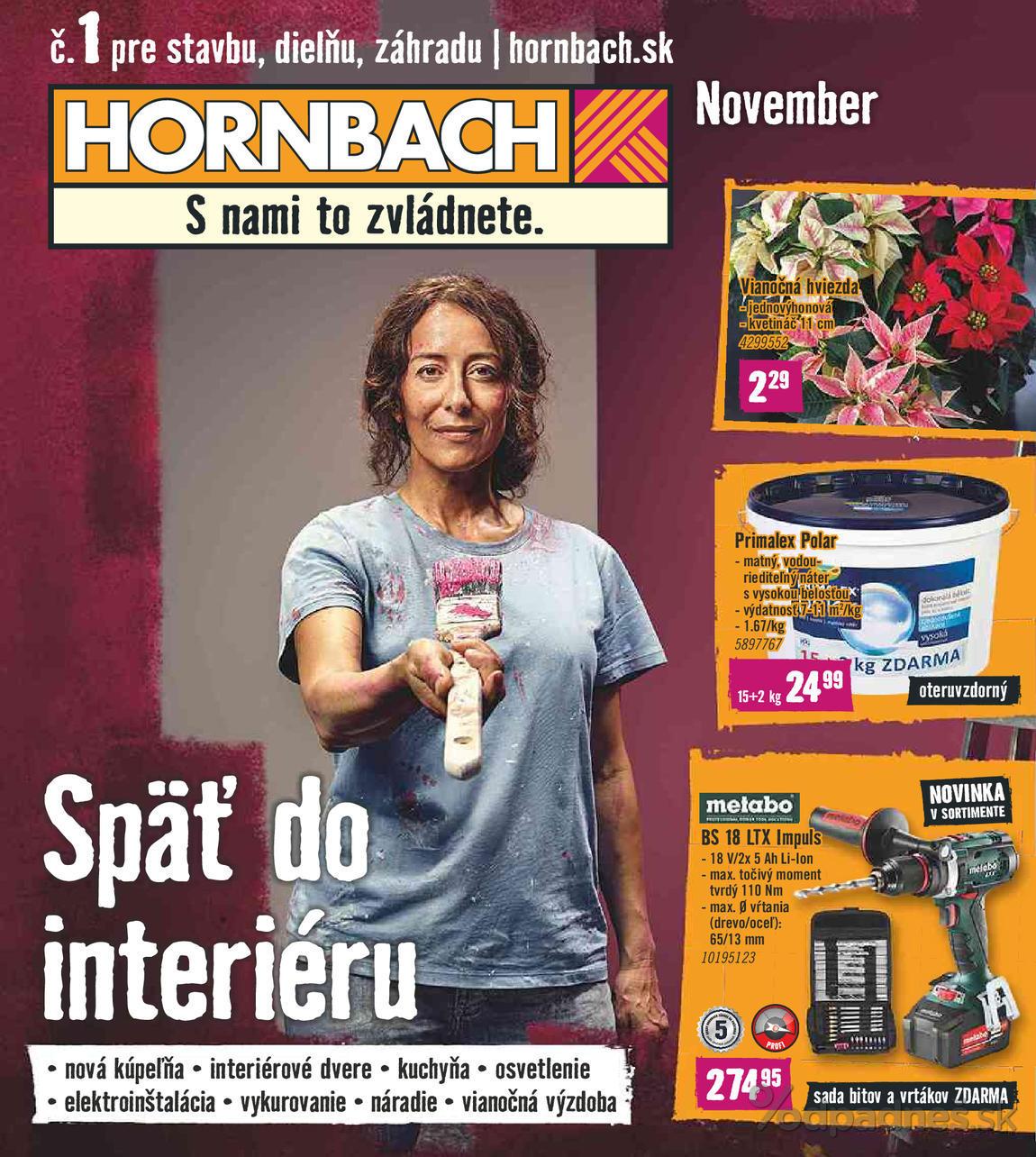 1. stránka Hornbach letáku