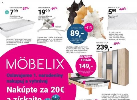 Mobelix - 1. narodeniny Levice, Senica, Dunajská Streda