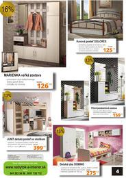 4. stránka Nábytok a interiér letáku