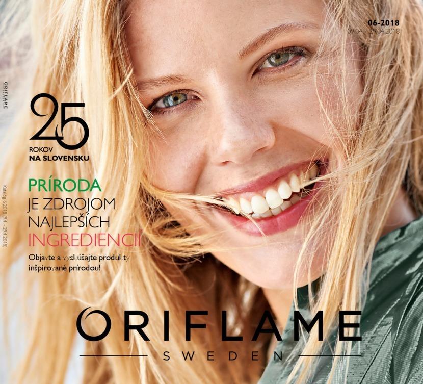 1. stránka Oriflame letáku