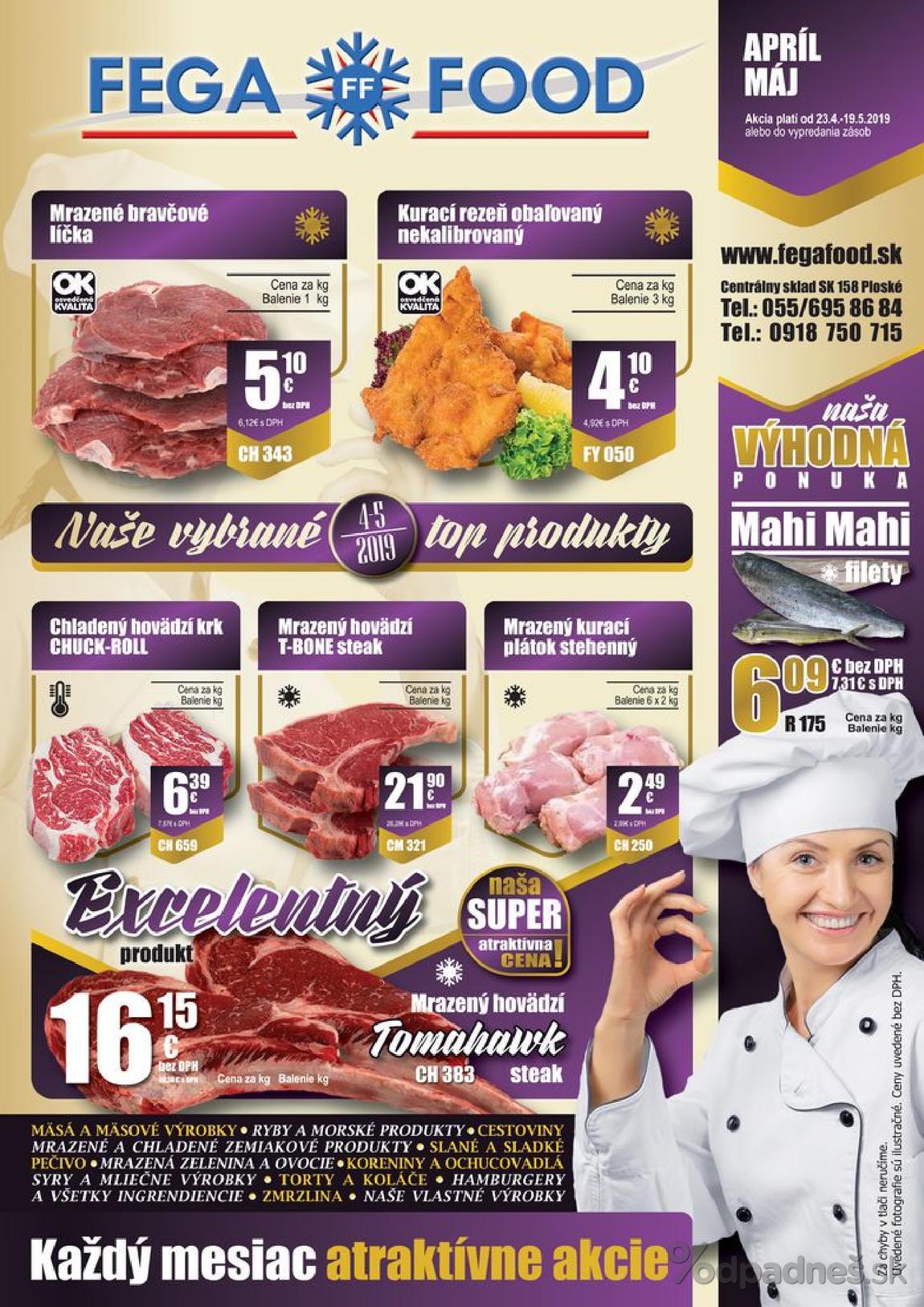 1. stránka Fega Food letáku