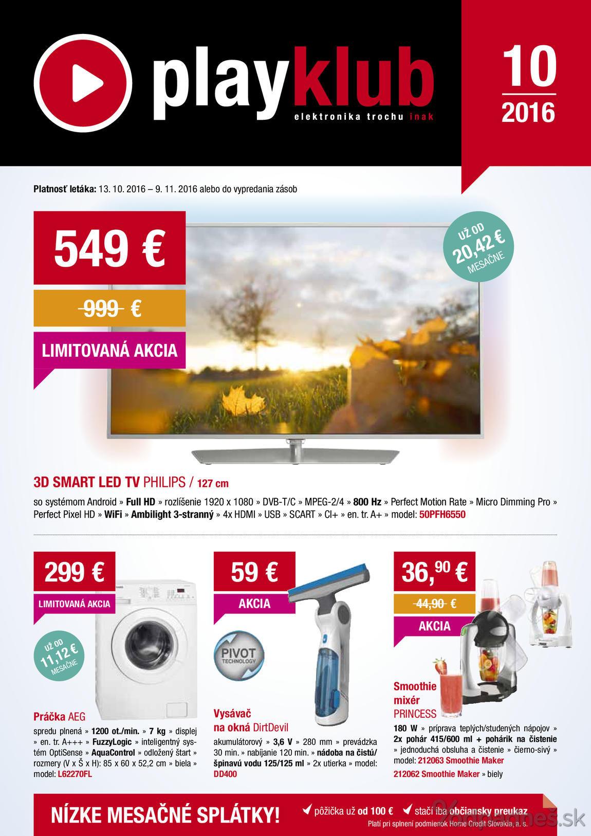 5cab55830 Playklub leták platný do 9.11.2016 | Letákovo.sk