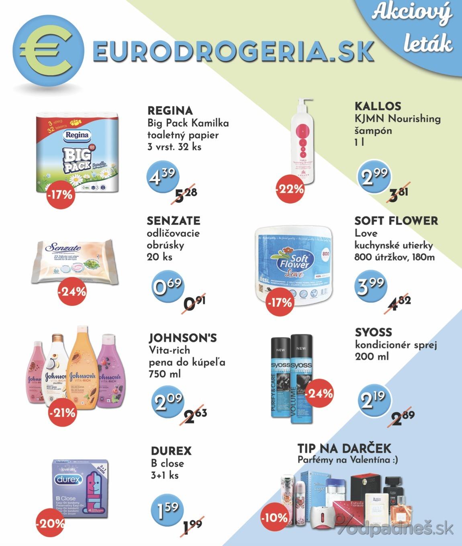 1. stránka Eurodrogéria.sk letáku